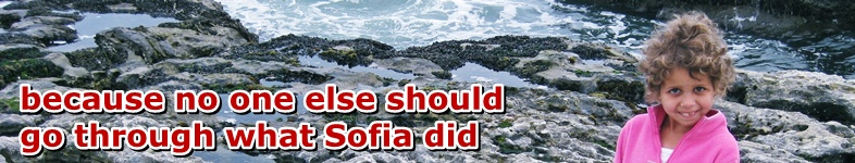 Sofia at the tidepools: because no one else should go through what Sofia did